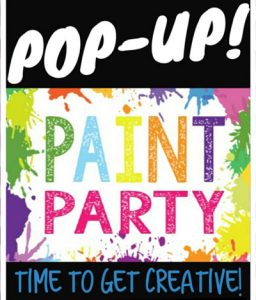 Pop Up Paint Party Graphic Image
