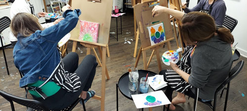 Creating Clarity - students in art class