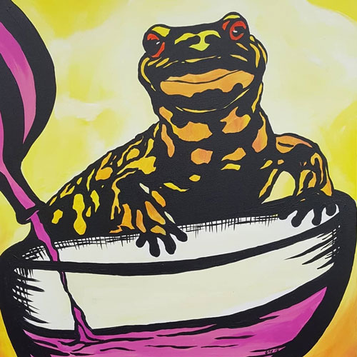 Creative Cocktails - Frog Painting